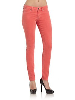 Rich and Skinny - Coral Foam Dye Skinny Jeans