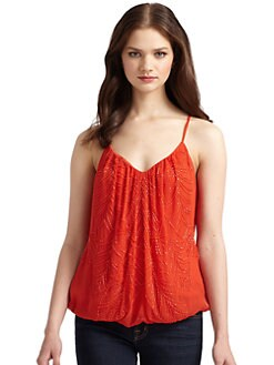Chelsea Flower - Beaded Chiffon Racerback Tank