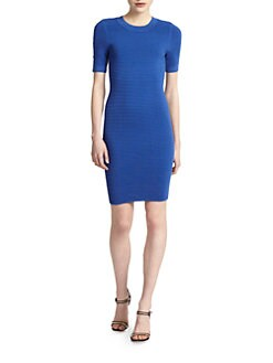 Torn - Candy Ottoman Ribbed Dress/Blue