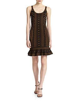 Torn - Michaela Tribal-Print Dress
