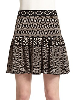 Torn - Camelia Tribal-Print Jacquard Skirt