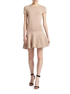 Torn - Vivienne Textured Cap Sleeve Dress