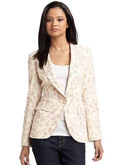 Torn - Rebecca Cotton & Linen Cheetah Blazer