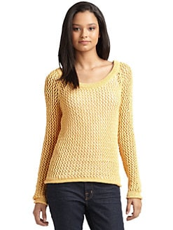 Torn - Haydon Open Knit Sweater/Yellow