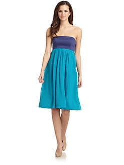 French Connection - Colorblock Strapless Dress