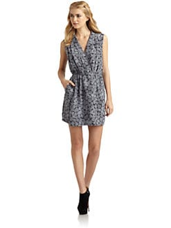 Wren - Printed Mock Wrap Dress