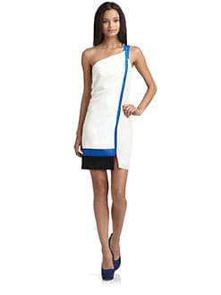 Sachin + Babi - Gloria Colorblock One-Shoulder Dress