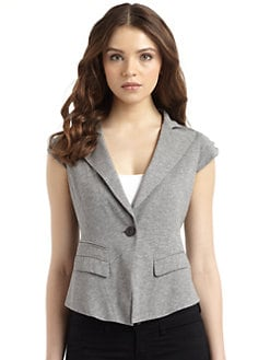 BCBGMAXAZRIA - Knit Cap Sleeve Jacket