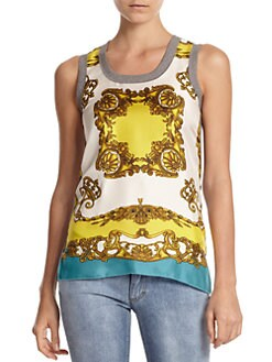 D&G - Canotta Print Tank Top