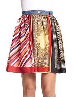 D&G - Mixed Print Skirt