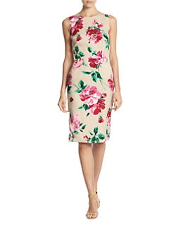 Dolce & Gabbana - Floral-Print Stretch Silk Sleeveless Dress