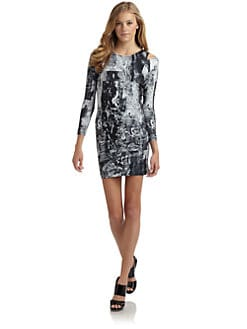 Factory by Erik Hart - Acid Wash Cutout Dress