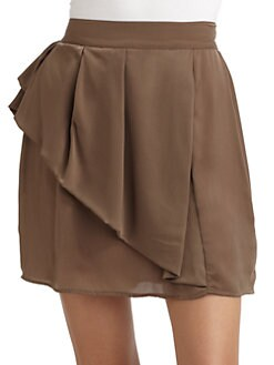 T-bags Los Angeles - Ruffled Skirt/Tobacco