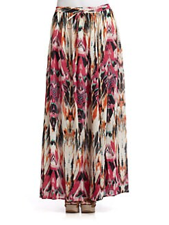 Love Sam - Abstract Print Skirt