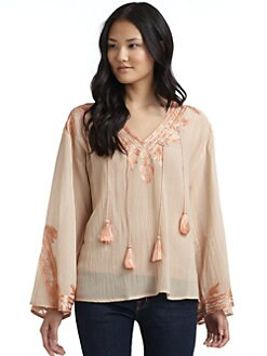 Love Sam - Embroidered Tassel Top