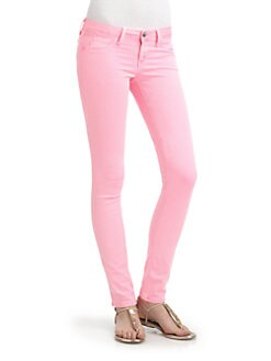 SOLD Design Lab - Spring Street Skinny Leg Denim Jeans/Pink