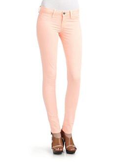 SOLD Design Lab - Spring Street Skinny Leg Denim Jeans/Neon Orange