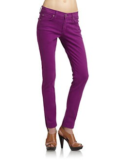 James Jeans - Skinny Leg Denim Jeans/Violet