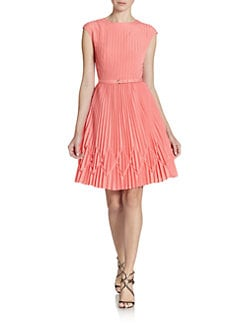 Ted Baker - Pleated Cap Sleeve Dress