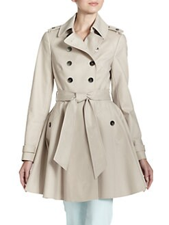 Ted Baker - Double-Breasted A-Line Trench Coat