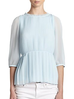 Ted Baker - Pleated Blouson Sleeve Blouse