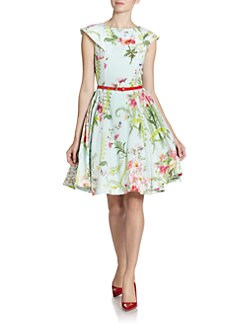 Ted Baker - Wallpaper Floral-Print Silk Dress