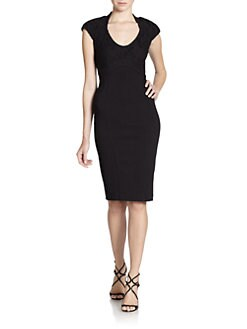 Ted Baker - Lace Bodice Knit Dress