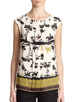 Ted Baker - Ranch-Print Cap Sleeve Top