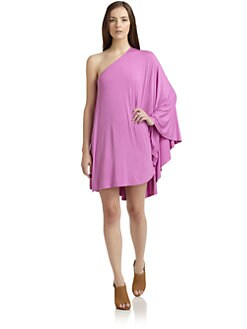 Feel The Piece - Angel One-Shoulder Dress/Orchid