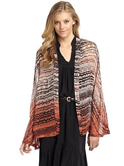 Gypsy 05 - Printed Dip-Dyed Silk Cardigan
