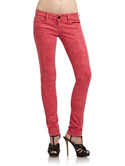 Black Orchid - Jewel Ikat Print Skinny Jeans/Red