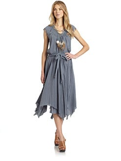 Rebecca Taylor - Feather Necklace Dress