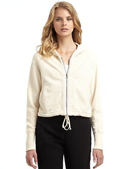 James Perse - Hooded Cropped Sweatshirt