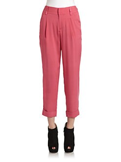 Alice + Olivia - Pierce Silk Cropped Pants