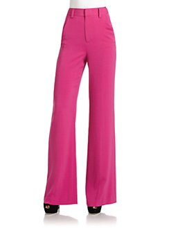Alice + Olivia - High-Waisted Flare-Leg Pants