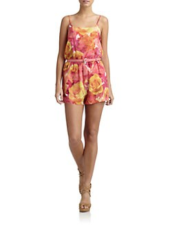 Alice + Olivia - Sam Floral Short Jumpsuit