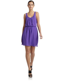 Alice + Olivia - Franny Silk Racerback Dress
