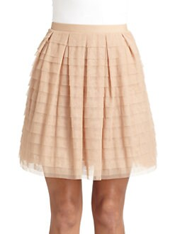 BCBGMAXAZRIA - Alegra Tiered Bias Skirt