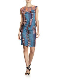 10 Crosby Derek Lam - Abstract-Print Asymmetrical Jersey Dress