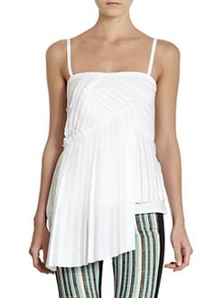 10 Crosby Derek Lam - Abstract Pleated Tank Top