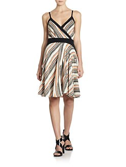 10 Crosby Derek Lam - Pixelated Striped Silk Dress