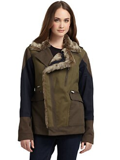 BCBGMAXAZRIA - Aundrea Khaki Colorblock Jacket