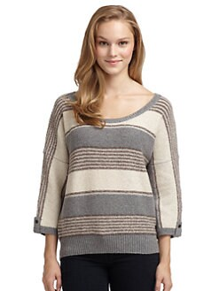 Splendid - Patchwork Stripe Dolman Sweater