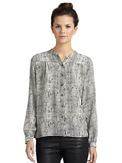 Wren - Yoke Silk Printed Blouse