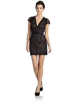 Wren - Silk Lace Flutter Dress