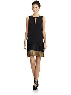 Wren - Silk Pleated Hem Dress
