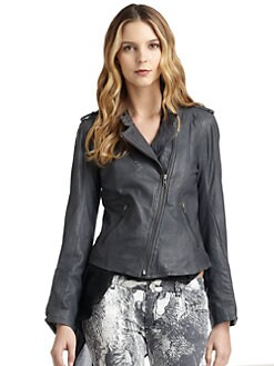 Romeo & Juliet Couture - Zip Leather Jacket