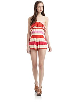 PJK Patterson J. Kincaid - Rosalie Short Jumpsuit/Striped