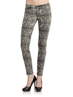 Rich and Skinny - Lace Print Skinny Jeans
