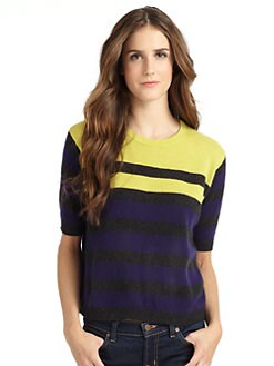 vkoo - Striped Cashmere Crewneck Sweater
